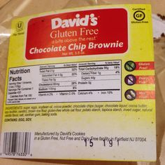 New! David's Cookies and Brownies gluten and lactose free #culinaryroadtripspuertorico #puertorico #gluternfree #lactosefree