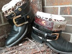 Recycled Repurposed Luxury Boots Belted by LuPearlsTreasure, $175.00