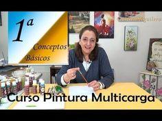 Curso pintura multicarga lección 2ª fondos con hojas - YouTube