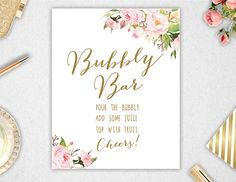 Bubbly Bar Sign Printable // INSTANT DOWNLOAD // by PaperBearPrint