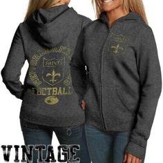NFL New Orleans Saints Vintage Hooded Sweatshirt Womens f5c46ec18