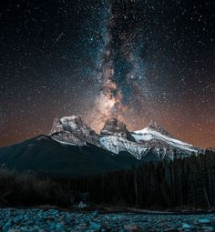 Milky Way Rising Over The Three Sisters Photo by Blake McIntyre — National Geographic Your Shot