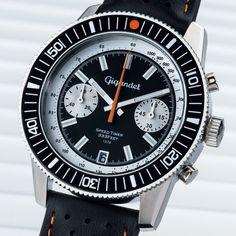 Gigandet SPEED TIMER Vintage Herren Chronograph - Armbanduhr mit Datumsanzeige und Lederarmband - Schwarz/Silbernes Zifferblatt - G7-010: Amazon.de: Uhren