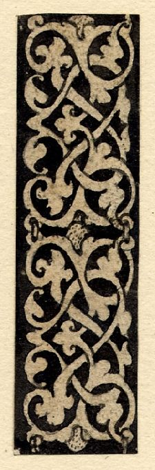 Strip of grotesque ornament, one of seven designs for chains, from the 'Jewellery Book'; two linked panels of arabesques, Pen and black ink, with black wash. Hans Holbein the Younger, circa 1532-1543