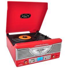 Pyle Home PTR8UR Retro Turntable with Radio/USB/SD/MP3 and Vinyl-to-MP3 Encoding (Red) by Pyle, http://www.amazon.com/dp/B009C3CHGG/ref=cm_sw_r_pi_dp_pNnArb166KXAJ
