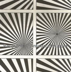 vintage 1970's optic illusion pattern art print book plate black & white pop art design retro home decor mod geometric picture wall 77 78 by RecycleBuyVintage on Etsy