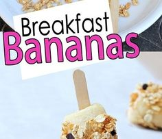 <3 Breakfast bananas-great idea.  I have a peanut butter granola that would be great.  I would roll in extra fruit too!