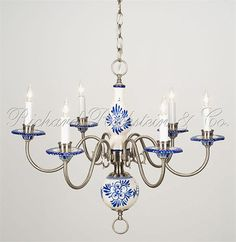 Beautiful Delft Chandelier I Just Found One Of These At A Yard
