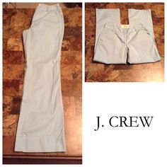 """J.Crew Classic Twill Pants J.Crew Classic Twill Pants are made of 100% Cotton.  Size 0S. The color is light blue.  Favorite Fit design. Laying flat """"14. Rise """"9. Length """"38. Inseam """"29.5.  This item is NOT new, It is used and in Good condition. Authentic and from a Smoke And Pet free home. All Offers through the offer button ONLY.  Ask any questions BEFORE purchase. Please use the Offer button, I WILL NOT negotiate in the comment section. Thank You J. Crew Pants"""