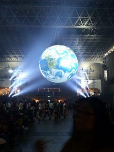 アースステージ前の地球