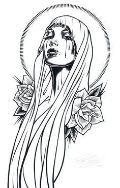 Entre tatouages et jolies filles, une sélection dessuperbes illustrations d'Adam Isaac Jackson.                      Images ©Adam Is