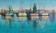"""Summer Morning Reflections,"" by Rene Wiley by René Wiley Gallery Oil ~ 36 x 60"