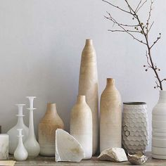 I am loving these vases! ALL together to make a statement!