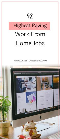 42 Highest Paying Work From Home Jobs [INFOGRAPHIC]  Check out the infographic from Ponbee below to get some very handy information about current telecommuting trends.  Read more: http://www.classycareergirl.com/2017/05/work-from-home-highest-paying-jobs-infographic/