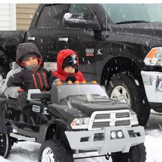 www.DieselTruckGallery.com Cummins Kids Power Wheels in the Snow