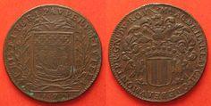 1672 Frankreich - Jetons CITY OF PARIS AC. DE HARLAY RECEVEUR GENERAUX DES PAUVRES 1672 copper # 87867 VF+