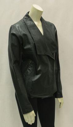 NEW BAGATELLE Black/Green Genuine Leather color Block Jacket 130046BAG #BadgleyMischka #Leatherjacket