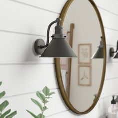 Stonecrest Armed Sconce - All For Decoration Bathroom Sconce Lighting, Bathroom Wall Sconces, Bathroom Light Fixtures, Downstairs Bathroom, Wall Mirror, Modern Farmhouse Lighting, Rustic Farmhouse, Modern Rustic, Sconces Living Room
