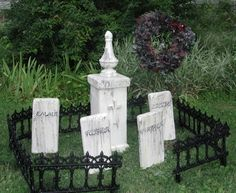 The Borden Family~separate 'family' plots in cemetery...