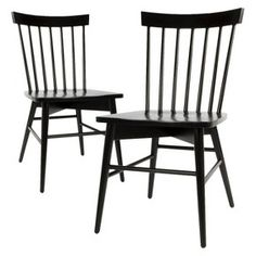 Windsor Dining Chair (Set of 2) - Threshold™ Black, white, or gray