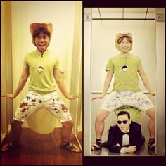 """This dancing guy from the """"Gangnam Style"""" music video.   24 Halloween Costumes That Will Make You Do A Double Take"""