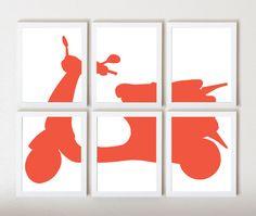 Vespa Graphic Art Print in Pantone 2012 by ThirdFloorDesign, $55.00