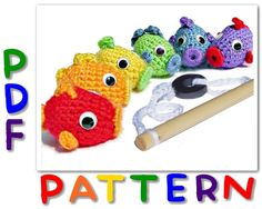 For Ev? PATTERN Magnetic Fish Set PDF - Crochet Fishing Toy Instant Download