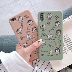 Luxury Cute Cartoon Phone Case for iPhone 6 7 8 X XR XS Max thickening Soft TPU Lovers frosted touch Cute Cases, Cute Phone Cases, Iphone Phone Cases, Phone Covers, Tumblr Phone Case, Diy Phone Case, Iphone 8 Plus, Iphone 11, Airpods Apple