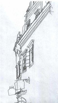 Egon Shiele exterior drawing