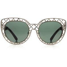 Tory Burch Lattice Sunglasses ($250) ❤ liked on Polyvore featuring accessories, eyewear, sunglasses, glasses, tory burch, scratch resistant sunglasses, tory burch glasses, metal frame sunglasses and lens glasses