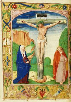 Crucifixion, a leaf from bishop Erazm Ciołek Missal by Anonymous from Kraków, ca. 1515 (PD-art/old), Biblioteka Narodowa