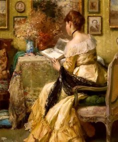 Fernand Toussaint (Belgian painter, 1873–1956)Afternoon reading