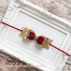 Christmas Headband Gold Baby Headband Holiday Hairbows Red Gold Hairbows Glitter Felt Bows Gifts For Girls Christmas Felt Headband
