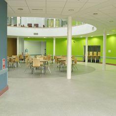 School Hallway With Lighting St Lukes Science Sports College Devon England School Interior