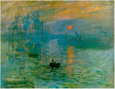 Painting by Claude Monet, April 1873 - Called Impression, Sunrise