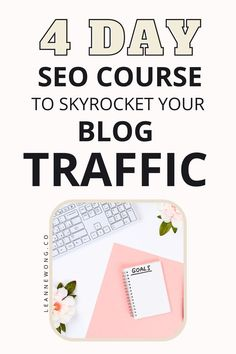 Skyrocket your blog traffic this year by implementing effective seo strategies! If you don't understand seo, this free 4 day seo for beginners bootcamp is for you! Join this seo course and learn how to get found on search engines and grow your blog with organic traffic from Google! Click here to enroll in this 4 day seo course to easily skyrocket your website traffic. Find my best seo tips for beginners in this course. #seoforbeginners #seotips #freeseocourse #seomarketingtips #seomarketing Business Tips, Online Business, Seo For Beginners, Seo Tips, Blog Writing, Make Money Blogging, Social Media Tips, How To Start A Blog, Mom Blogs