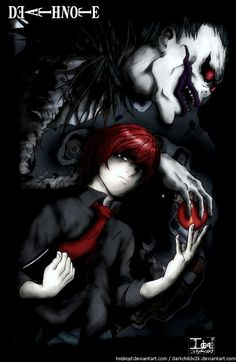 Buy an amazing poster of Ratio and Ryuk from Death Note anime and manga. Death Note Anime, Death Note デスノート, Death Note Light, Death Note Fanart, Shinigami, I Love Anime, Awesome Anime, Me Me Me Anime, Manga Anime
