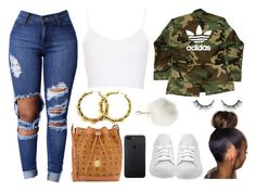 """""""In School Bored !!!"""" by prettygirlnunu ❤ liked on Polyvore featuring Topshop, MCM, adidas and Charlotte Russe"""