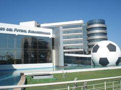 Museo del Fútbol Sudamericano ubicado en la sede de la Conmebol en la ciudad de Luque