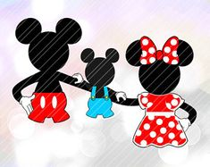 Mickey Minnie Child Baby Mouse LAYERED SVG Vector Cut File Cricut Silhouette Cameo Birthday Party Decorations Vinyl Tshirt Decal Clipart