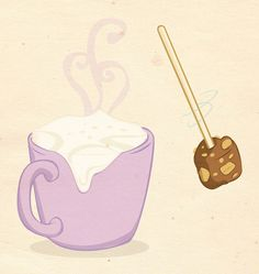 Kid's menu in Wedel's chocolate lounges by luiza kwiatkowska, via Behance