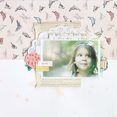 Watercolor background - Stephanie Bryan for Maggie Holmes design team. Using the Styleboard collection! #scrapbooking
