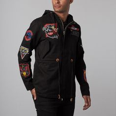 Fish Tail, Parka, Motorcycle Jacket, Jackets, Black, Fashion, Men, Fishtail, Down Jackets