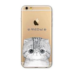 """Fundas Mobile Phone Bags Case Cover for iphone 6 6S 4.7"""" Soft Slim TPU Transparent Soft Cute Animal Cat Owl Rabbit Printed Style"""