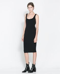 ZARA - NEW THIS WEEK - OTTOMAN DRESS WITH ZIP