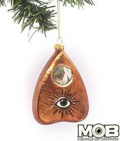 Spirit Board Planchette Glass Ornament
