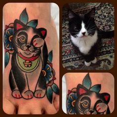 "Custom Maneki Neko for my client's one eyed cat ""Sookie""!"