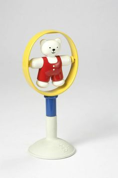 Teddy suction toy, the Netherlands, 1992, designed by Patrick Rylands for Europlastic.