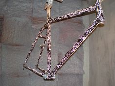 Retro splatter-paint, by request by Bilenky Cycle Works, via Flickr