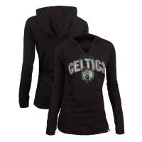 47 Brand Celtics Womens Wordmark Lightweight Hoodie [Black]